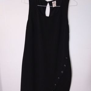 Wrapper Black Sheath Dress with side slit Sz XL